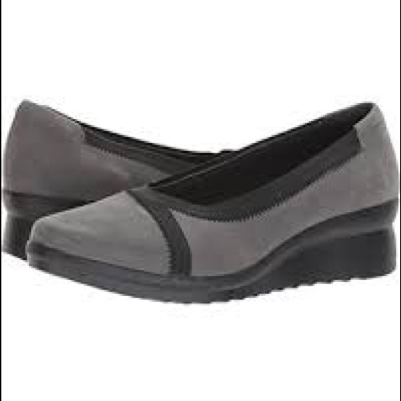 60aaa0fd178 Clarks Shoes - Clarks Cadell Dash Wedge Pump